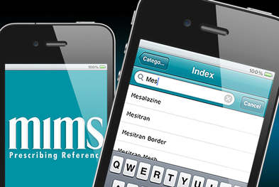 The MIMS app provides instant access to the full MIMS drug database, with no internet connection needed after the initial download.