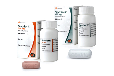 Votrient is also licensed for advanced renal cell carcinoma, as first line treatment or following cytokine therapy.