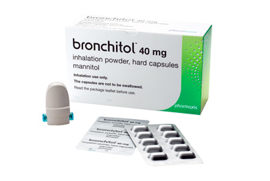 Mannitol, the active ingredient in Bronchitol, is also available as an intravenous infusion for cerebral oedema