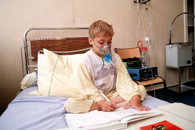 Previously treatment with omalizumab could only be initiated on the NHS if the patient had severe exacerbations which required hospital admission (pictured) | SCIENCE PHOTO LIBRARY