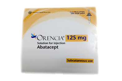 Abatacept is recommended by NICE but only in patients with severe RA who have responded inadequately to (or who have not tolerated) other DMARDS, including methotrexate and a TNF inhibitor, and in whom rituximab is contraindicated or not tolerated.