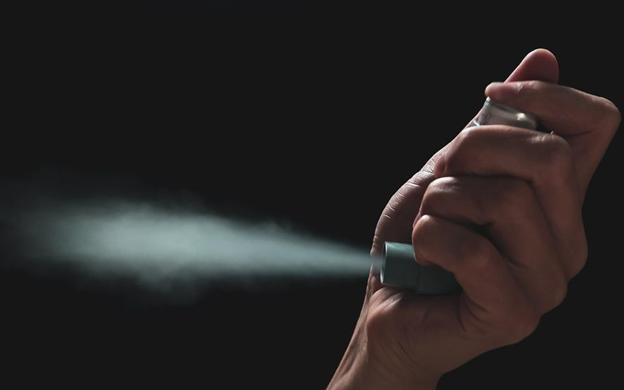 Metered-dose inhalers contain hydrofluorocarbon propellants, which are powerful greenhouse gases. | GETTY IMAGES