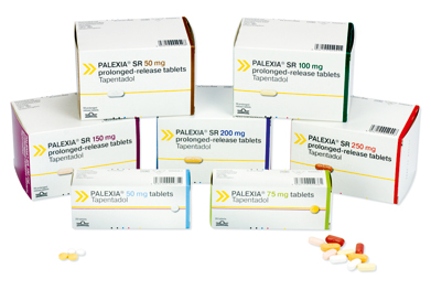 Two formulations of Palexia for pain relief