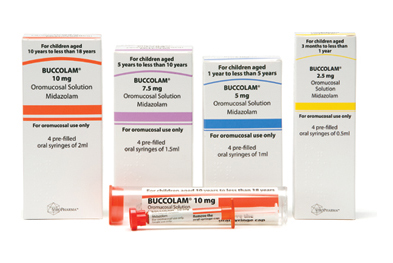 Buccolam is available in colour-coded pre-filled oral syringes, with age-specific doses, to reduce the risk of medication error
