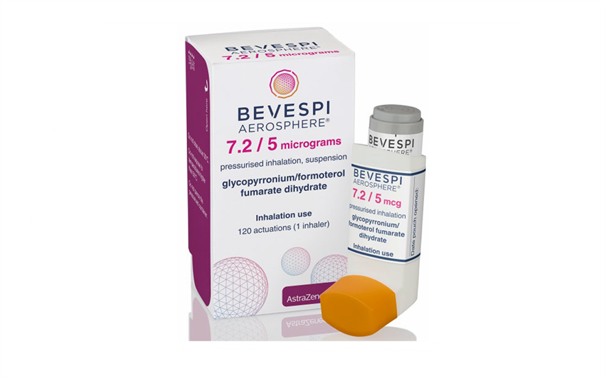 Bevespi Aerosphere is compatible with the Aerochamber Plus Flow-Vu spacer device. | AstraZeneca