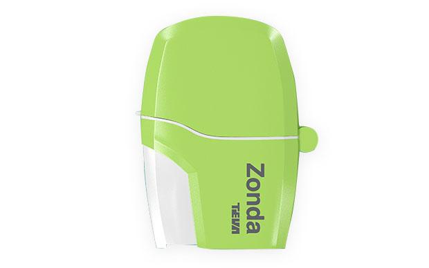 Braltus (tiotropium) is delivered using the Zonda inhaler.