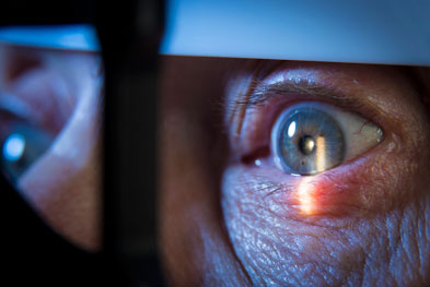 The ophthalmic examination required when prescribing retigabine (Trobalt) should include a visual acuity test, dilated fundoscopy and a slit -lamp examination (pictured)   SCIENCE PHOTO LIBRARY