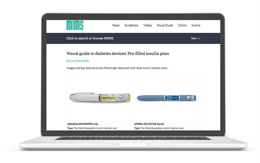 The MIMS visual guide to diabetes devices is a pictorial reference that can support healthcare professionals during consultations with diabetes patients.