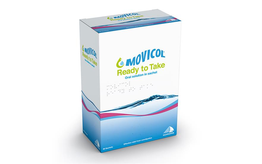 Movicol Ready To Take is supplied in packs of 30 x 25ml sachets.