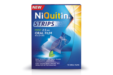 Niquitin Strips should be placed on the tongue and pressed against the roof of the mouth until dissolved