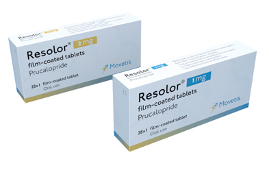 Prucalopride (Resolor) stimulates intestinal motility.