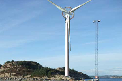 At 15MW the Azimut turbine would even beat the 10MW Sway turbine (above)