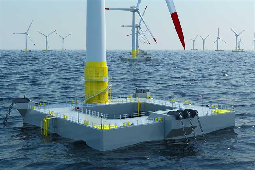 """Floatgen first… Installation is expected next year of a Floatgen demonstrator using Ideol's """"damping pool"""" floater"""