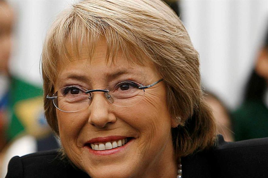 Agenda 45%… President Michelle Bachelet demands that 45% of new generation capacity must come from renewables (pic: Agencia Brasil)