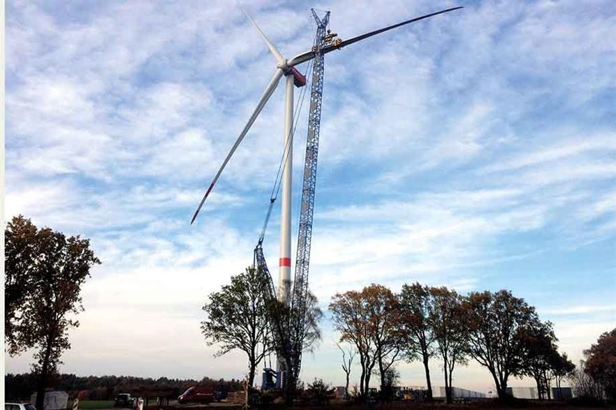 Standing tall… Nordex was first on the market in the 4MW-plus, 150m-range rotor onshore class