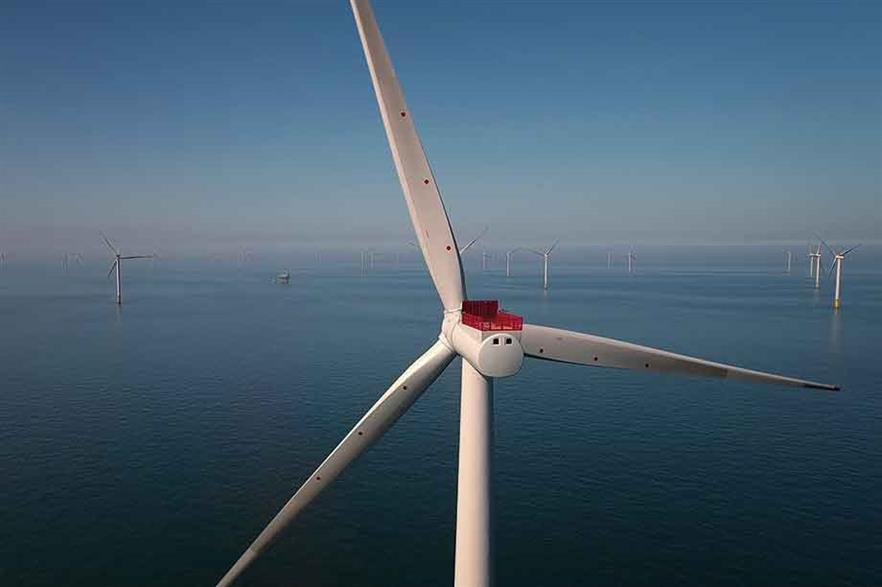 Top of the pile… Ørsted's 5GW of operating offshore capacity includes 573MW Race Bank project in the UK