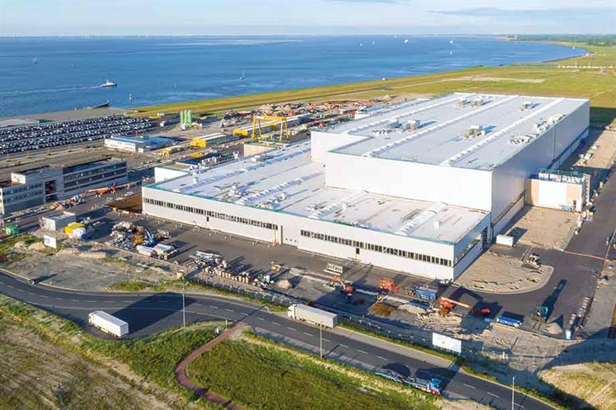 Prime location… SGRE built its Cuxhaven plant on the North Sea coast