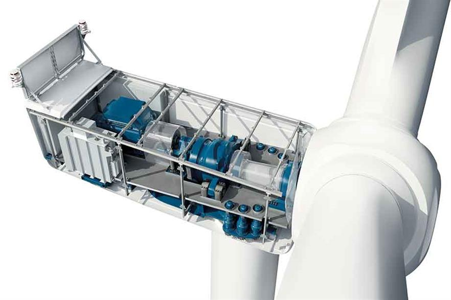 High-speed… Nordex has retained its proven three-point gearbox support solution for the N149 4.0-4.5MW turbine