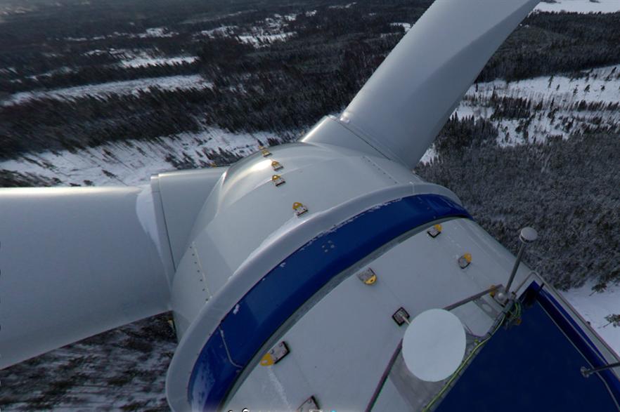 Mervento's 3.6-118 wind turbine at 130 meters