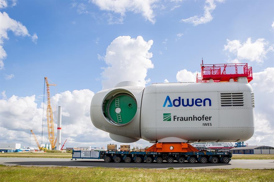 The innovative Adwen 8MW turbine has no commercial future