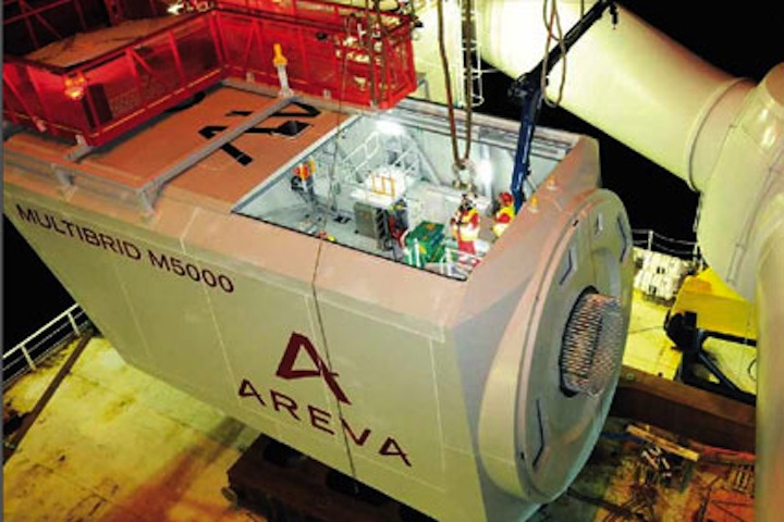 Areva's M5000 turbine will be part of the Adwen joint venture