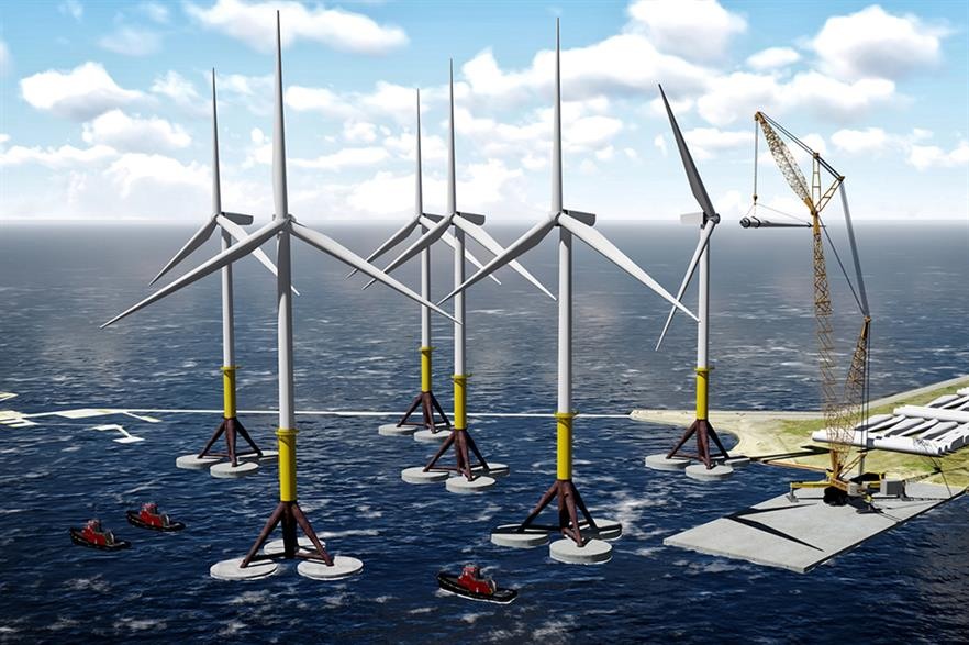 EDPR said its gravity-base design could support up to 8MW-capacity turbines