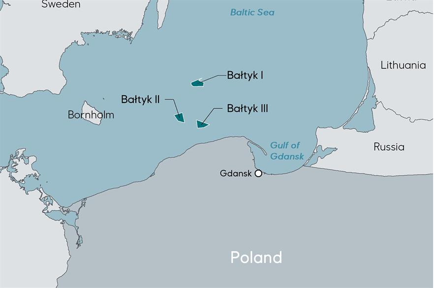 Equinor is partnering with Polenergia on three offshore wind projects off Poland's Baltic Sea coast