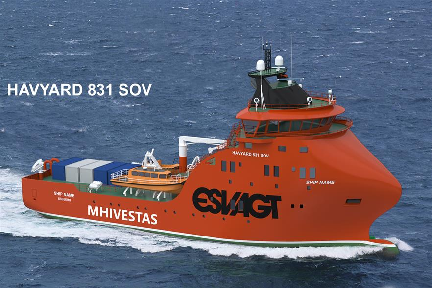 MHI-Vestas service vessel will operate at the Belwind and Nobelwind projects off Belgium