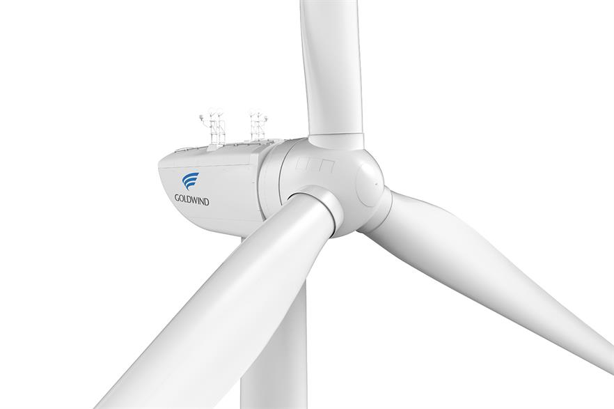 Goldwind previously offered its GW154 6.7MW for offshore applications