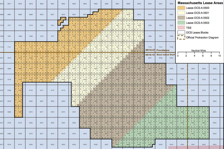 The lease area has been divided into four sections