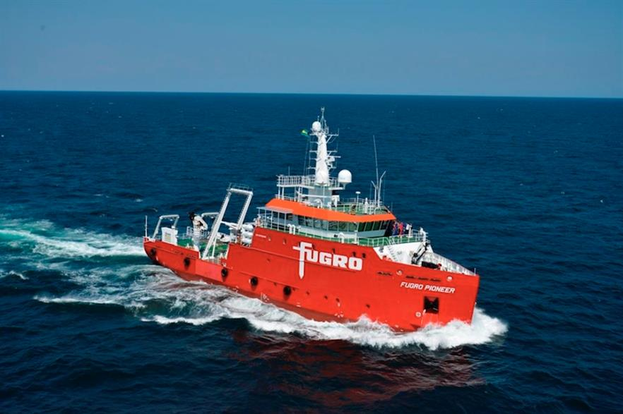 Fugro deployed its Pioneer vessel to survey Iberdrola's Baltic Eagle site for unexploded ordnance
