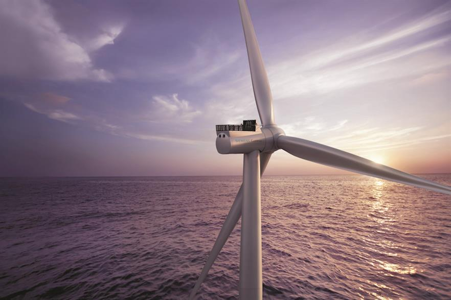 Siemens Gamesa's SG 8.0-167 DD has a rated capacity of 8MW and a rotor with a diameter of 167 metres