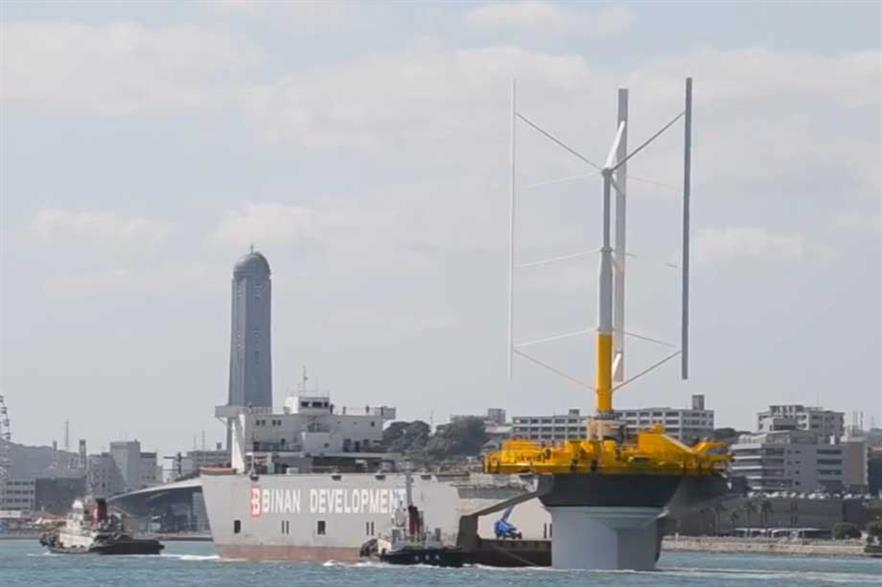 The Skwid turbine in transit for testing
