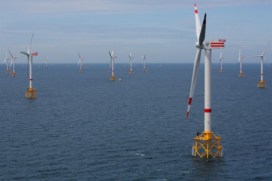 The three-phase Thornton Bank project off the coast of West Flanders, Belgium (pic: RWE)