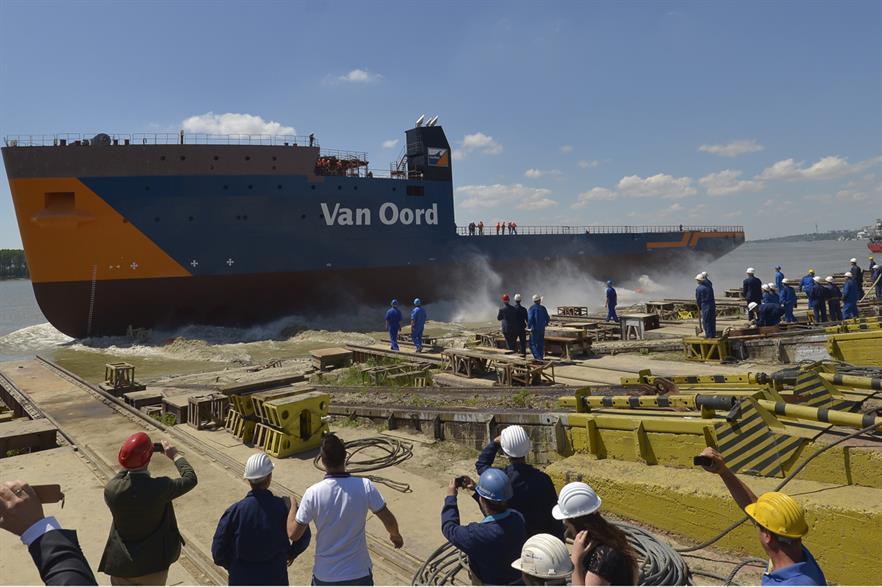 Van Oord's Nexus vessel was launched at Damen Shipyards, Romania
