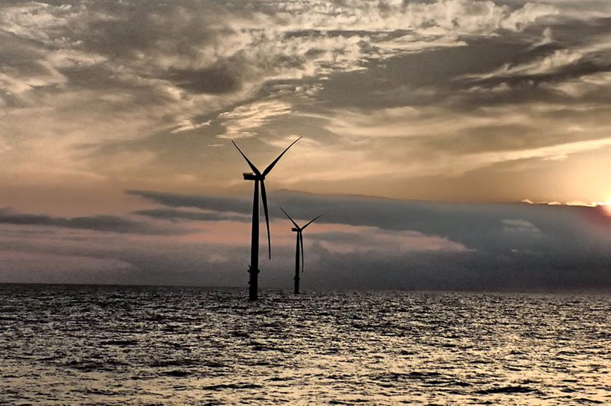 Vattenfall's recently completed Sandbank offshore project, off Germany