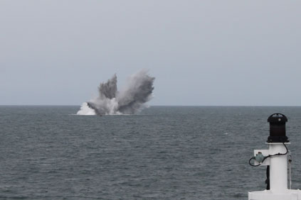 The contractor will be required to clear unexploded munitions from the seabed