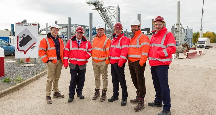Staff from the company at the site of the IBA plant