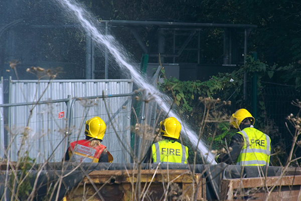 Firefighters  at the site Photo: @n_s_martin