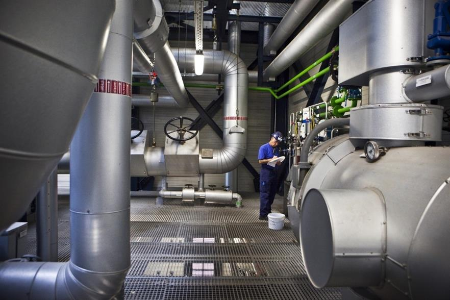 An interior view of the plant