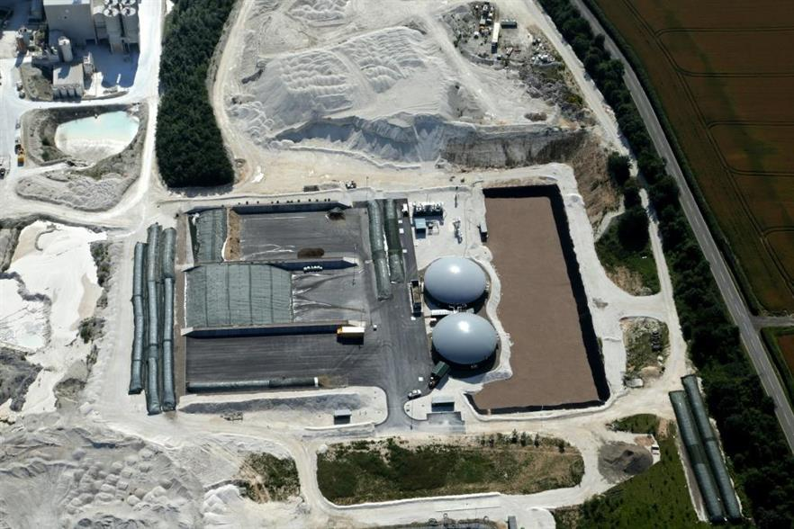 Ariel view of the plant