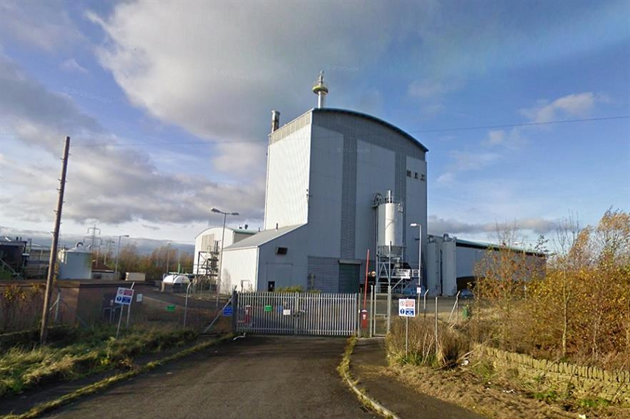 The decommissioned ARBRE facility. Credit: Google Streetview