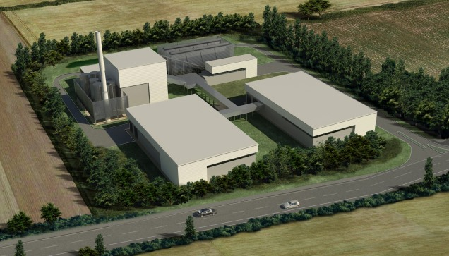 An artist's impression of the Lincolnshire plant