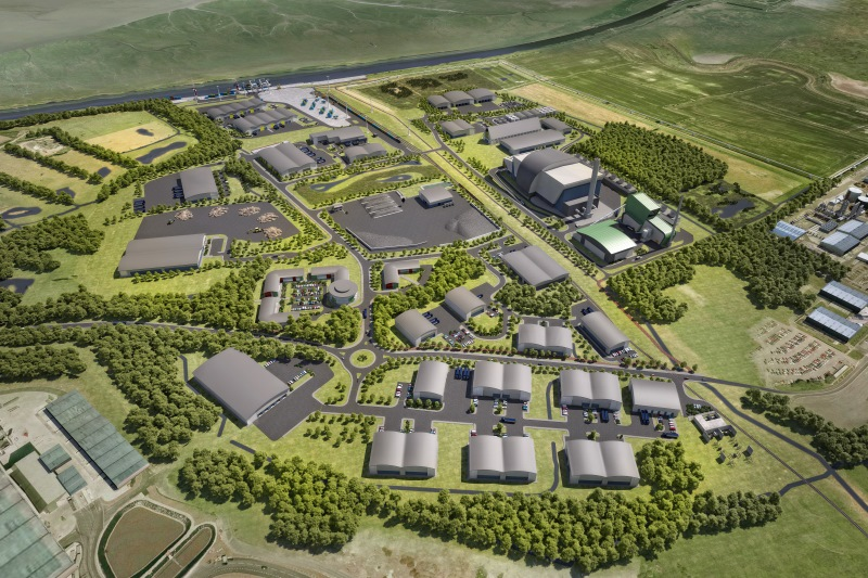 An artist's impression of the planned Protos energy park. Image: Peel Environmental
