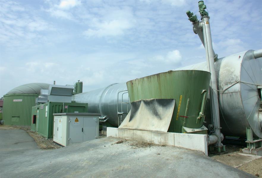 A biogas facility