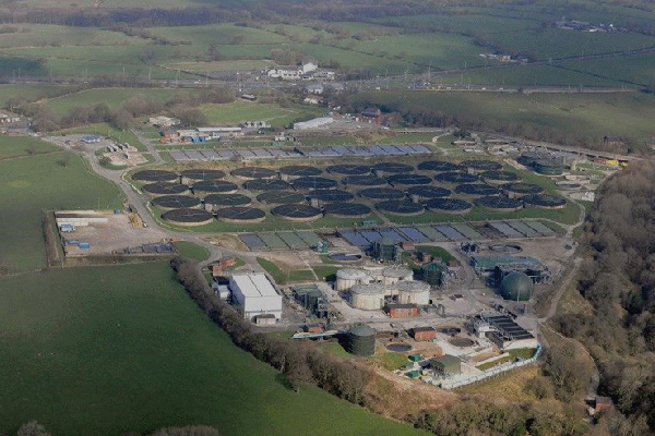 The Blackburn sewage treatment works could be expanded in future. Photograph: United Utilities