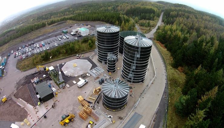 The 1MWe Bryn Pica biogas plant. Photograph Biogen