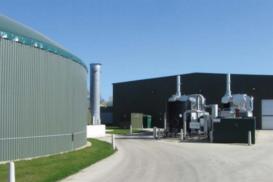 Agrivert's Cassington biogas plant in Oxfordshire