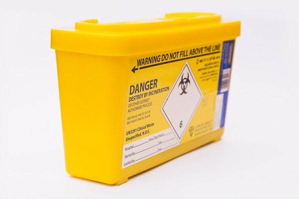 Clinical waste container, image credit David Hernandez