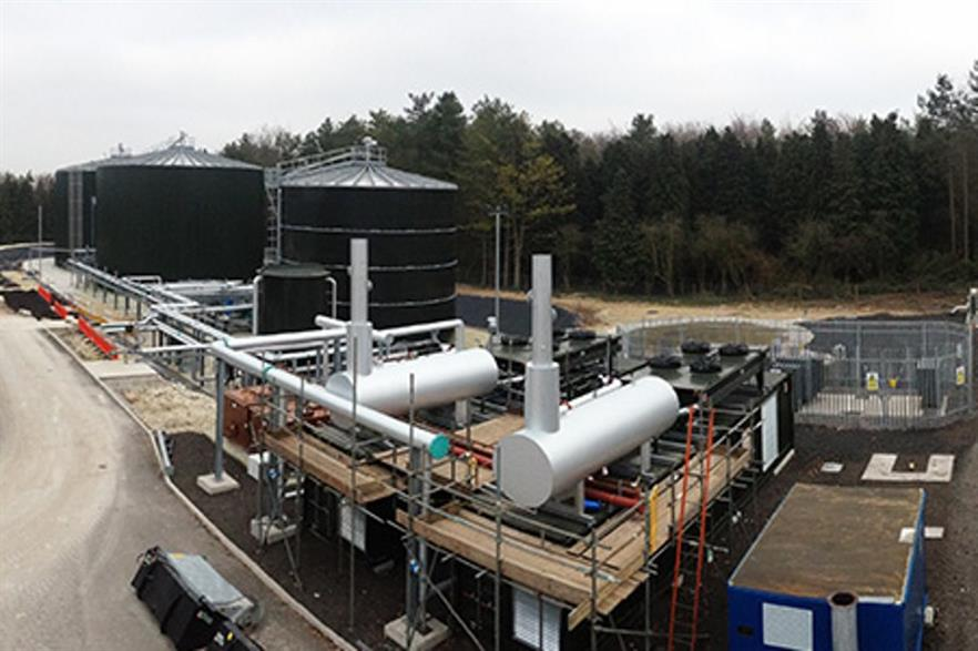 The Codford Biogas plant